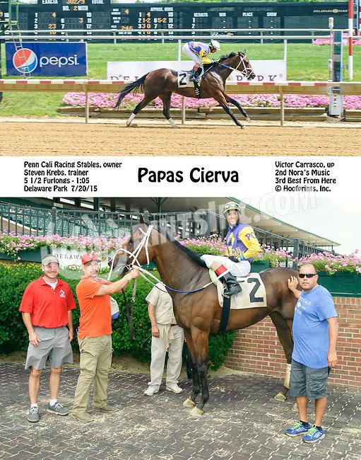Papas Cierva winning at Delaware Park on 7/20/15