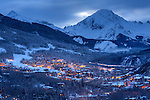 Snowmass Village with Capitol Peak and Mt. Daly
