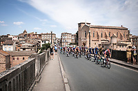Maxime Monfort (BEL/Lotto Soudal) leading the peloton through the village  called Gaillac. <br /> <br /> Stage 11: Albi to Toulouse (167km)<br /> 106th Tour de France 2019 (2.UWT)<br /> <br /> ©kramon