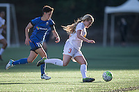 Seattle, WA - Saturday July 16, 2016: Keelin Winters, Makenzy Doniak during a regular season National Women's Soccer League (NWSL) match between the Seattle Reign FC and the Western New York Flash at Memorial Stadium.
