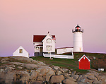 The Nubble Light In Soft Twilight Hues, Cape Neddick, Maine
