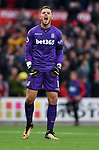 Stoke City goalkeeper Jack Butland celebrates at the end of the premier league match at the Britannia Stadium, Stoke. Picture date 19th August 2017. Picture credit should read: Robin Parker/Sportimage