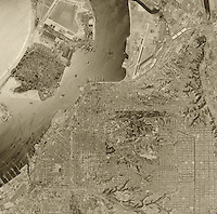 historical aerial photograph San Diego California 1956