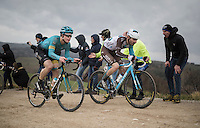 impressive racing by youngsters Truls Korsaeth (NOR/Astana) & Quentin Jauregui (FRA/AG2R-La Mondiale)<br /> <br /> 11th Strade Bianche 2017
