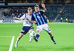Stockholm 2013-10-27 Fotboll Allsvenskan Djurg&aring;rdens IF - Gefle IF :  <br /> Djurg&aring;rden 28 Aleksandar Prijovic i kamp om bollen med Gefle 3 Jonas Olsson <br /> (Foto: Kenta J&ouml;nsson) Nyckelord: