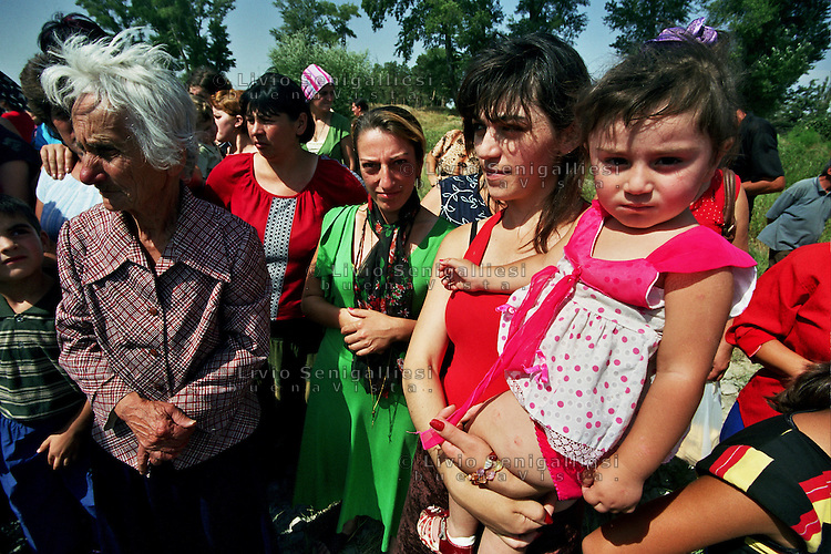 Gori/Georgia  9-2008.<br /> Profughi fuggiti dall&rsquo;Ossezia del sud a causa dei combattimenti tra truppe georgiane ed esercito russo.<br /> Refugees who fled from South Ossetia because of fighting between Georgian troops and the Russian army.<br /> Photo Livio Senigalliesi