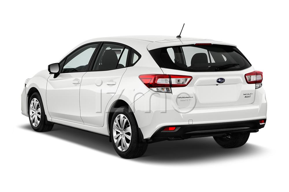 Car pictures of rear three quarter view of 2017 Subaru Impreza CVT 5 Door Hatchback Angular Rear