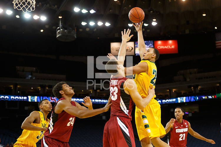 Oakland, CA -- November 9, 2012: USF's Cole Dickerson during a game against Stanford at the Oracle Arena. Stanford defeated the Dons 74 - 62.