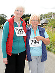 Helen Begley and Helena Keegan pictured at the start of the Annagassan 10K run. The event was held as part of the Viking festival.Photo: www.colinbellphotos.com