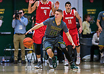 18 February 2018: University of Vermont Guard Cam Ward, a Senior from Marshall, WS, in action against the Hartford Hawks at Patrick Gymnasium in Burlington, Vermont. The Catamounts fell to the Hawks 69-68 in their America East Conference matchup. Mandatory Credit: Ed Wolfstein Photo *** RAW (NEF) Image File Available ***