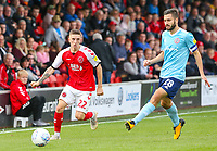 Fleetwood Town's Ashley Hunter goes past Accrington Stanley's Seamus Conneely<br /> <br /> Photographer Alex Dodd/CameraSport<br /> <br /> The EFL Sky Bet League One - Fleetwood Town v Accrington Stanley - Saturday 15th September 2018  - Highbury Stadium - Fleetwood<br /> <br /> World Copyright &copy; 2018 CameraSport. All rights reserved. 43 Linden Ave. Countesthorpe. Leicester. England. LE8 5PG - Tel: +44 (0) 116 277 4147 - admin@camerasport.com - www.camerasport.com