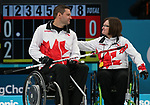 Pyeongchang, Korea, 17/3/2018- Mark Ideson, Marie Wright, competes in the bronze medal game of wheelchair curling during the 2018 Paralympic Games. Photo: Scott Grant/Canadian Paralympic Committee.