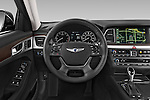 Car pictures of steering wheel view of a 2015 Hyundai Genesis 3.8 4 Door Sedan Steering Wheel