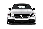 Car photography straight front view of a 2016 Mercedes Benz C-Class AMG-C63-S 4 Door Sedan Front View