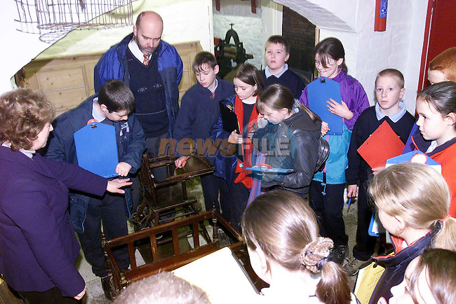 students from Tallanstown in the Museum in Drogheda.Pic Fran Caffrey Newsfile