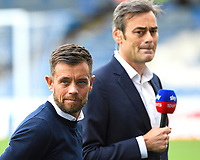 Lee Hendry, ex Aston Villa legend acting as a pundit for Sky TV during Portsmouth vs Birmingham City, Caraboa Cup Football at Fratton Park on 6th August 2019