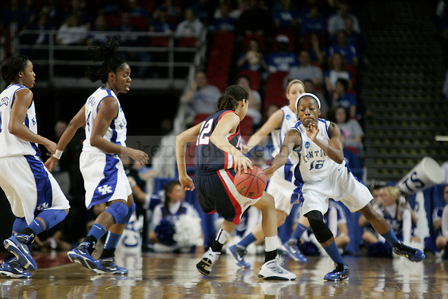 UK senior guard/forward Lydia Watkins steals the ball from Liberty's Danika Dale at Freedom Hall on Saturday, March 20, 2010. Photo by Scott Hannigan | Staff