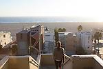 Jogger in Palisades Park, Santa Monica, CA Santa Monica, California, CA, USA