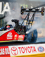 Jul 28, 2017; Sonoma, CA, USA; NHRA top fuel driver Doug Kalitta during qualifying for the Sonoma Nationals at Sonoma Raceway. Mandatory Credit: Mark J. Rebilas-USA TODAY Sports