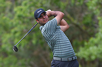 Shubhankar Sharma (IND) watches his tee shot on 12 during round 1 of the Houston Open, Golf Club of Houston, Houston, Texas. 3/29/2018.<br /> Picture: Golffile | Ken Murray<br /> <br /> <br /> All photo usage must carry mandatory copyright credit (© Golffile | Ken Murray)