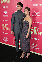 "14 June 2017 - Los Angeles, California - Ansel Elgort, Lily James.""Baby Driver"" Los Angeles Premiere held at the Ace Hotel. Photo Credit: F. Sadou/AdMedia"