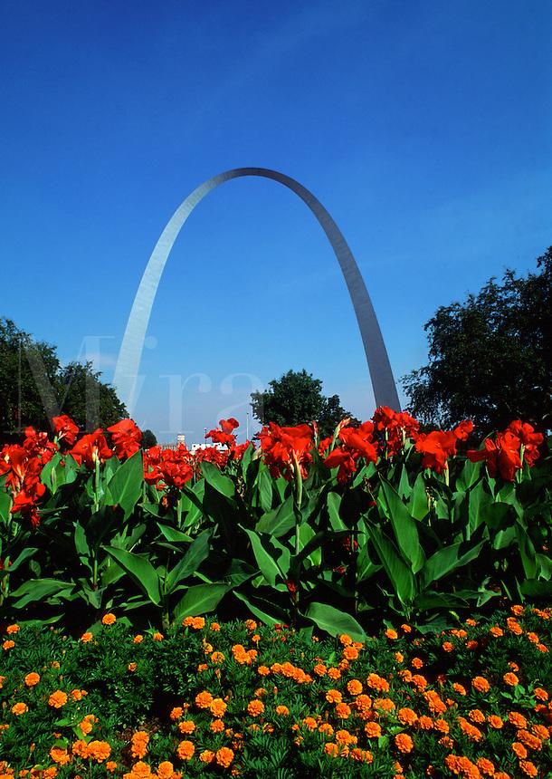 The St. Louis Arch. St. Louis, Missouri.