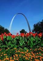 The St. Louis Arch. St. Louis, Missouri.