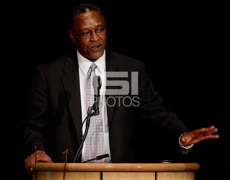 Don Griffin during his speech at Stanford Athletics Hall of Fame, event on November 11, 2011, at the Alumni Center.  ( Norbert von der Groeben )