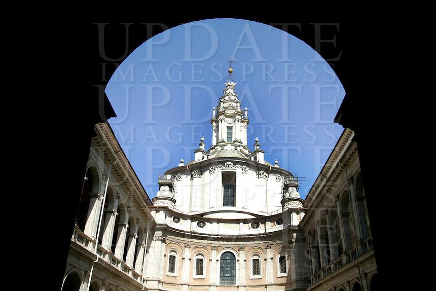 La chiesa di Sant'Ivo alla Sapienza, a Roma.<br /> The church of Sant'Ivo alla Sapienza, in Rome.<br /> UPDATE IMAGES PRESS/Riccardo De Luca
