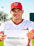 28 February 2010: Washington Nationals catcher Ivan Rodriguez poses for his Spring Training photo at Space Coast Stadium in Viera, Florida. Mandatory Credit: Ed Wolfstein Photo