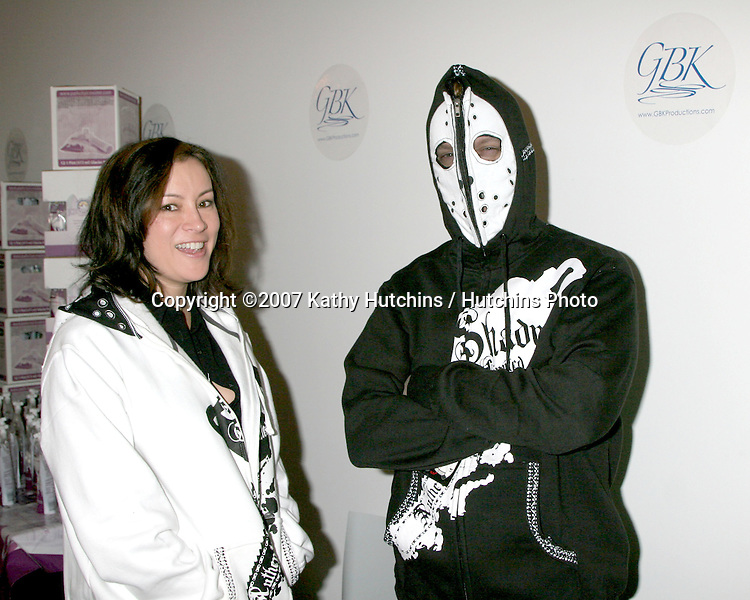 Phil Laak & Jennifer Tilly.GBK American Music Awards Gifting Suite 2007 .The Standard Hotel Downtown .Los Angeles, CA.November 17, 2007.©2007 Kathy Hutchins / Hutchins Photo...               .