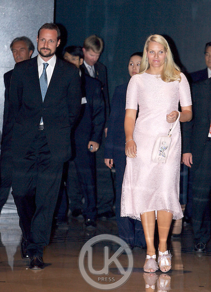 Crown Prince Haakon & Crown Princess Mette Marit of Norway attend a Concert & Dinner at The Grand Hyatt Hotel in Seoul on the second of their visit to South Korea