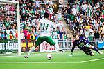 Stockholm 2014-05-24 Fotboll Superettan Hammarby IF - Varbergs BoIS FC  :  <br /> Hammarbys Pablo Pinones-Arce g&ouml;r 2-0 bakom Varbergs m&aring;lvakt Joakim Wulff <br /> (Foto: Kenta J&ouml;nsson) Nyckelord:  Superettan Tele2 Arena HIF Bajen Varberg BoIS jubel gl&auml;dje lycka glad happy