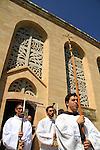 Israel, Jerusalem, Visitation Day ceremony at the Church of the Visitation in Ein Karem