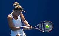 Pauline Parmentier (FRA) against Elena Baltacha (GBR) in the First Round of the Ladies Singles. Baltacha beat Parmentier 6-4 3-6 7-5..International Tennis - Australian Open Tennis - Mon 18 Jan 2010 - Melbourne Park - Melbourne - Australia ..© Frey - AMN Images, 1st Floor, Barry House, 20-22 Worple Road, London, SW19 4DH.Tel - +44 20 8947 0100.mfrey@advantagemedianet.com