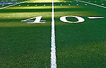 21 October 2007: The artificial turf and the 40 yard line at Ralph Wilson Stadium in Orchard Park, NY. ..Mandatory Photo Credit: Ed Wolfstein Photo