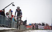 Pauline Ferrand-Prevot (FRA/Rabobank-Liv) leading the race<br /> <br /> Elite Women's Race<br /> <br /> 2015 UCI World Championships Cyclocross <br /> Tabor, Czech Republic