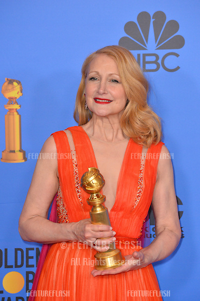 LOS ANGELES, CA. January 06, 2019: Patricia Clarkson at the 2019 Golden Globe Awards at the Beverly Hilton Hotel.<br /> Picture: Paul Smith/Featureflash