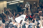 Real Madrid's  players celebrating victory of the Super Copa of Spain on Agost 29th 2012...Photo:  (ALTERPHOTOS/Ricky)