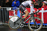 Koen De Kort (NED) Trek-Segafredo in action during Stage 1, a 14km individual time trial around Dusseldorf, of the 104th edition of the Tour de France 2017, Dusseldorf, Germany. 1st July 2017.<br /> Picture: Eoin Clarke | Cyclefile<br /> <br /> <br /> All photos usage must carry mandatory copyright credit (&copy; Cyclefile | Eoin Clarke)