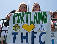 Tottenham Hotspur fans. San Jose Earthquakes tied  Tottenham Hotspur 0-0 at Buck Shaw Stadium in Santa Clara, California on July 17th, 2010.
