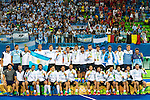 Argentina team and staff after the Men's hockey medal ceremony at the Rio 2016 Olympics at the Olympic Hockey Centre in Rio de Janeiro, Brazil.
