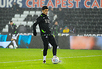2nd January 2020; Liberty Stadium, Swansea, Glamorgan, Wales; English Football League Championship, Swansea City versus Charlton Athletic; Yan Dhanda of Swansea City warms up before the match  - Strictly Editorial Use Only. No use with unauthorized audio, video, data, fixture lists, club/league logos or 'live' services. Online in-match use limited to 120 images, no video emulation. No use in betting, games or single club/league/player publications
