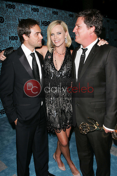 Stuart Townsend with Charlize Theron and Stephen Hopkins<br />