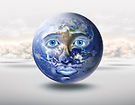 Illustrative image of globe crying representing stress