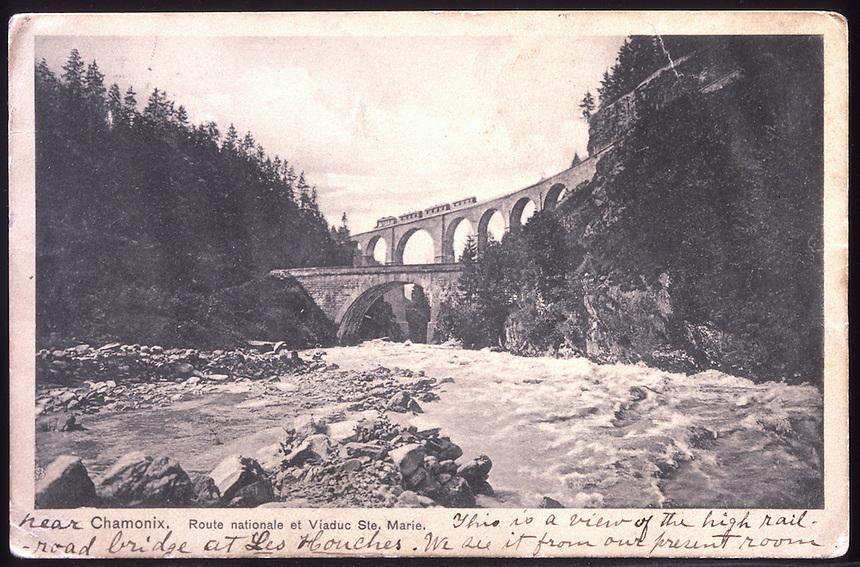 Title: Photo of Bridge drawn in no match bw bridge<br /> Type: Postcard<br /> File Name: Sheet_1<br /> Image checked: yes<br /> Formats: c 4x5, b/w neg, c tif