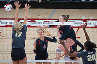 STANFORD, CA - September 9, 2016: Merete Lutz at Maples Pavilion. The Purdue Boilermakers defeated the Stanford Cardinal 3 - 2.
