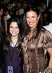 "HOLLYWOOD, CA. - February 24: Actress Mimi Rogers (R), daughter Lucy  arrive at the Los Angeles premiere of ""Jonas Brothers: The 3D Concert Experience"" at the El Capitan Theatre on February 24, 2009 in Los Angeles, California."