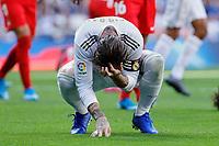 Sergio Ramos of Real Madrid during La Liga match between Real Madrid and Granada CF at Santiago Bernabeu Stadium in Madrid, Spain. October 05, 2019. (ALTERPHOTOS/A. Perez Meca)<br /> Liga Spagna 2019/2020 <br /> Real Madrid - Grenada <br /> Foto Alterphotos / Insidefoto <br /> ITALY ONLY