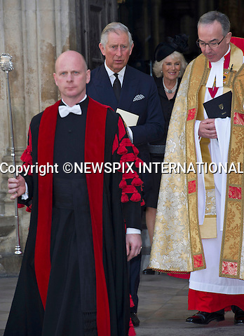 PRINCE CHARLES AND CAMILLA, DUCHESS OF CORNWALL<br /> attends Sir David Frost Memorial Service, Westminster Abbey, London_13/03/2014<br /> Mandatory Credit Photo: &copy;Dias/NEWSPIX INTERNATIONAL<br /> <br /> **ALL FEES PAYABLE TO: &quot;NEWSPIX INTERNATIONAL&quot;**<br /> <br /> IMMEDIATE CONFIRMATION OF USAGE REQUIRED:<br /> Newspix International, 31 Chinnery Hill, Bishop's Stortford, ENGLAND CM23 3PS<br /> Tel:+441279 324672  ; Fax: +441279656877<br /> Mobile:  07775681153<br /> e-mail: info@newspixinternational.co.uk